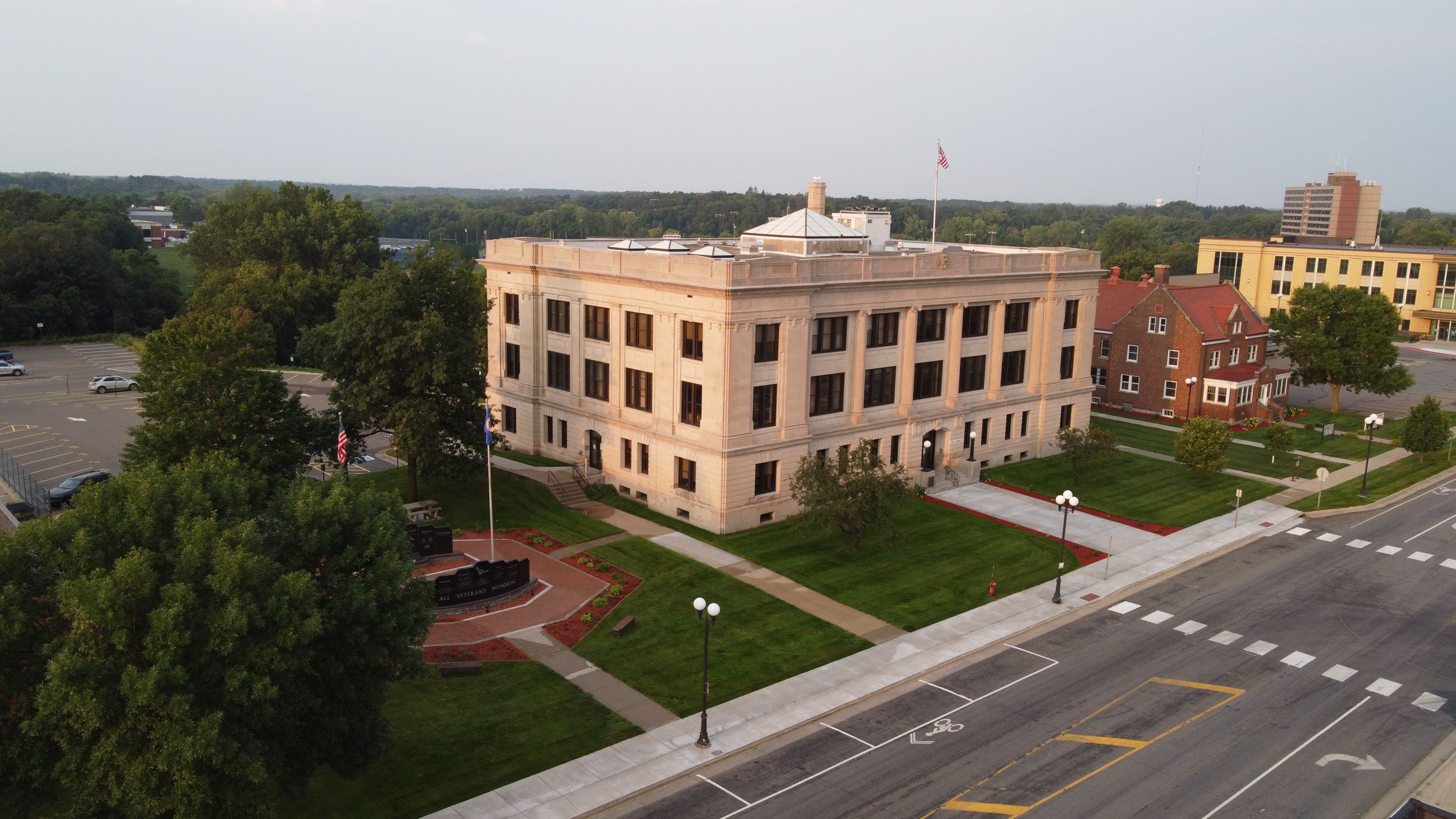 Historic Courthouse aerial view